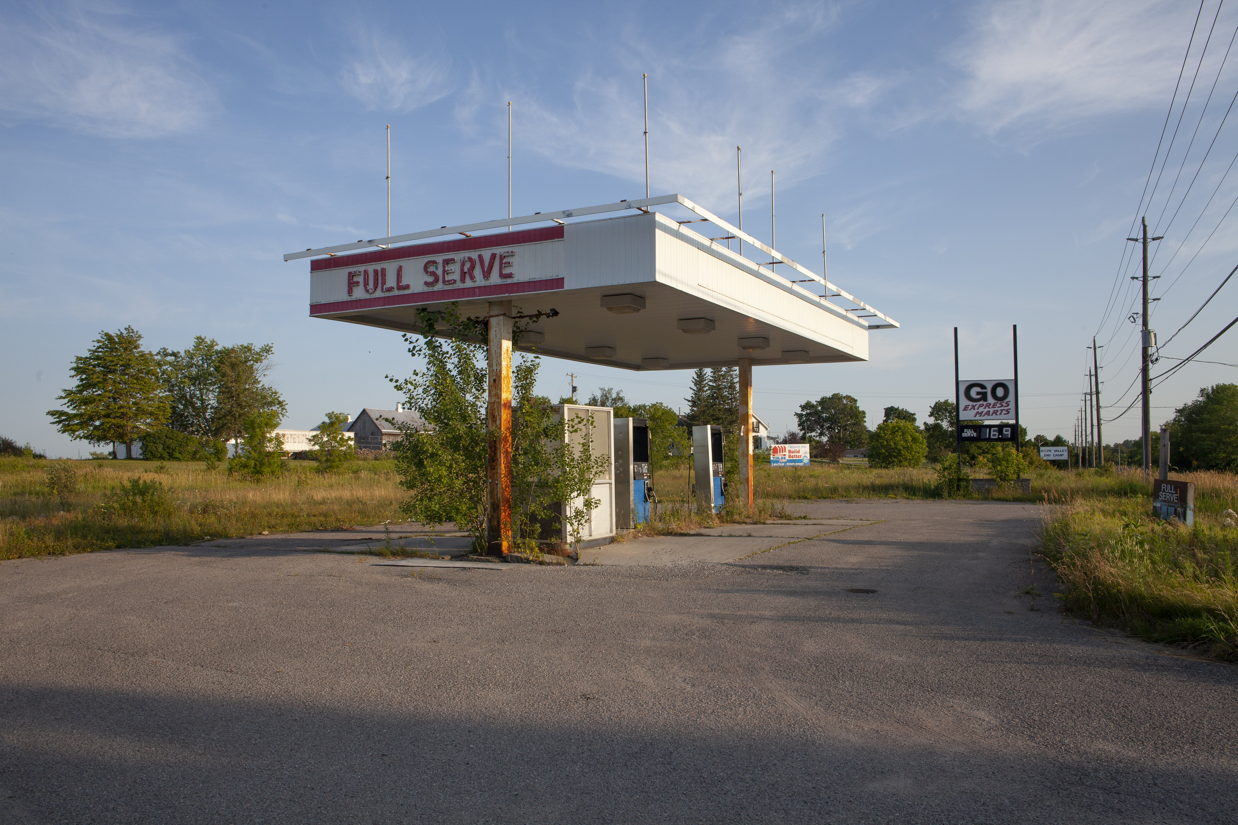 Full Serve Gas Station, Highway 28, Ontario.